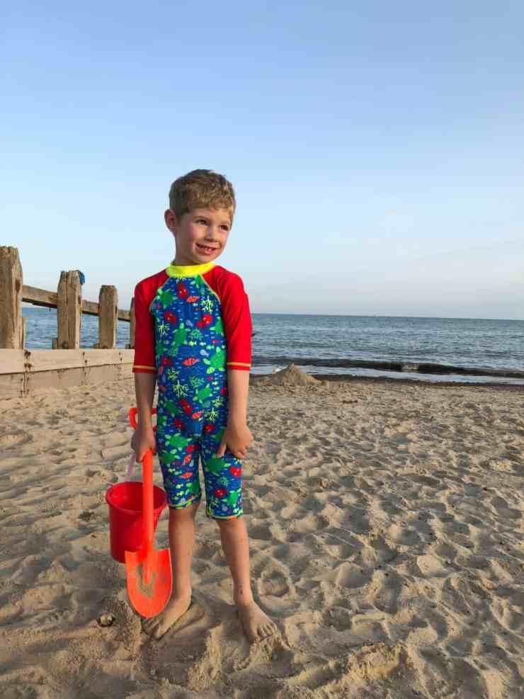 Olly on Littlehampton Beach