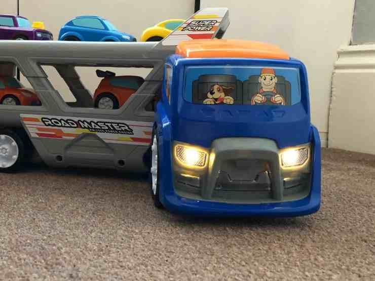 Big Steps Vroom Super Car Transporter from Smyths Toys 2
