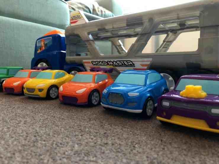 Big Steps Vroom Super Car Transporter from Smyths Toys 1