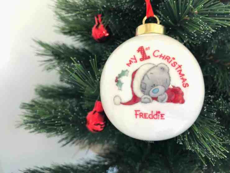 Baby's First Christmas Personalised Bauble 2018