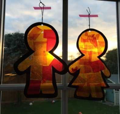 Gingerbread Men Sun Catchers