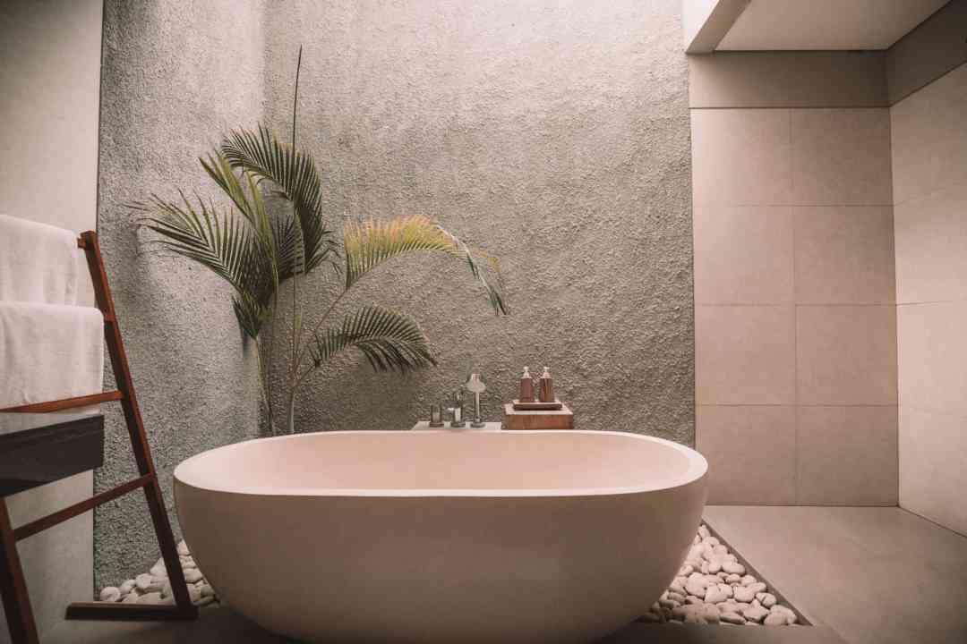 bathroom palm standalone bath