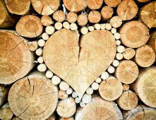 firewood heart
