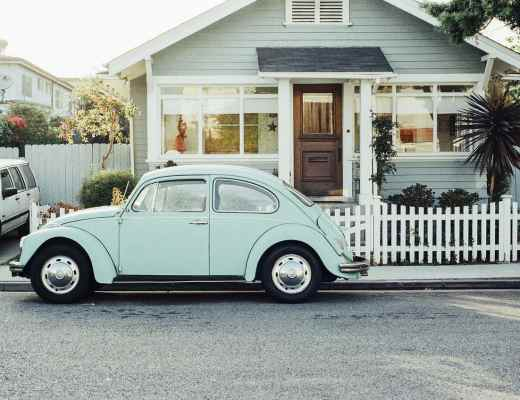 old home American house VW car