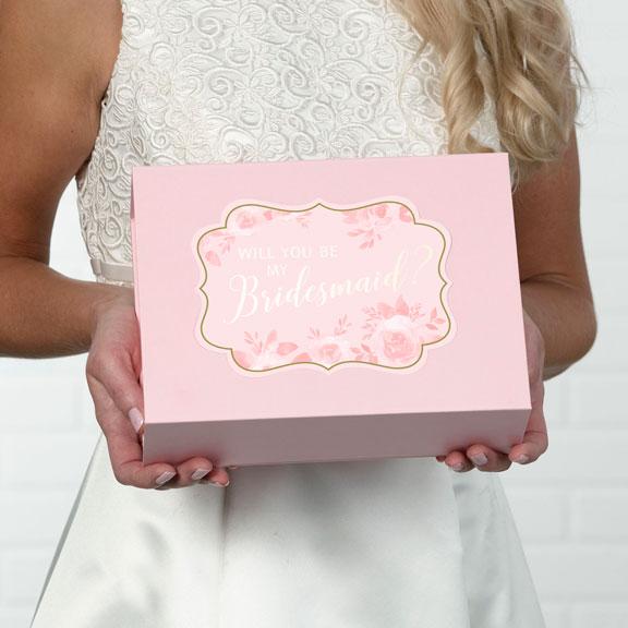 Bridesmaid Proposal Gift Box Pink