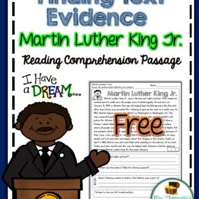 Free Martin Luther King Jr. Close Reading