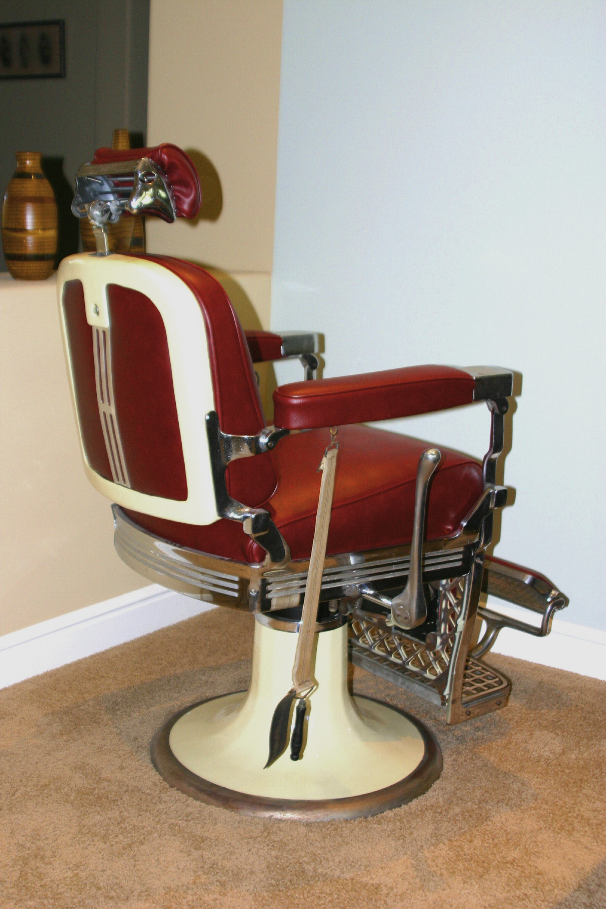keller barber chair ebay party covers antique value furniture