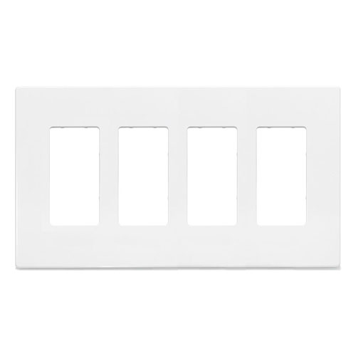 Cooper Wiring Devices, Aspire 4-gang Wallplate, 9524WS