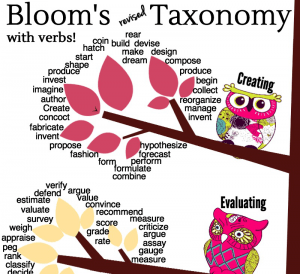 Download This Adorable Owls Revised Bloom's Taxonomy Poster! (1/2)