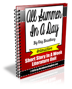 All Summer In A Day Short Story Unit (1/6)