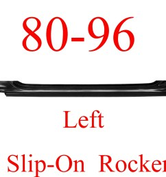 80 96 left slip on rocker panel ford truck bronco [ 2526 x 2121 Pixel ]