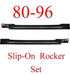 80 96 ford slip on rocker panel set ford truck bronco [ 2592 x 2571 Pixel ]