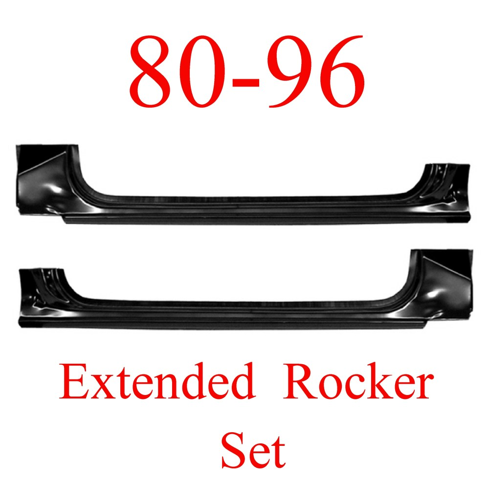 medium resolution of 80 96 ford extended rocker panel set truck bronco