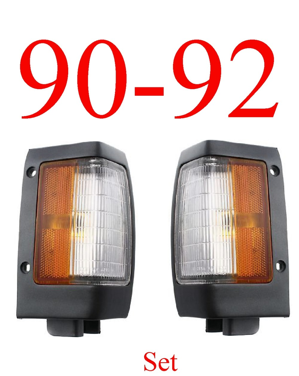 medium resolution of 90 92 nissan hardbody black parking light set