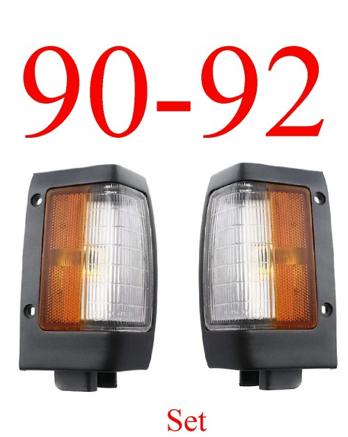 small resolution of 90 92 nissan hardbody black parking light set