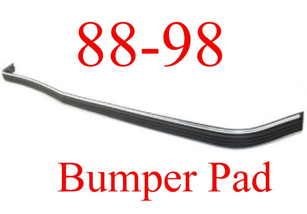 medium resolution of 88 98 chevy gmc front bumper pad strip with chrome