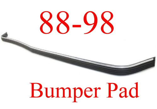 small resolution of 88 98 chevy gmc front bumper pad strip with chrome