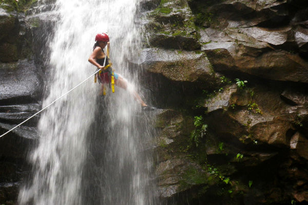 canyoning and rappelling adventure in costa rica