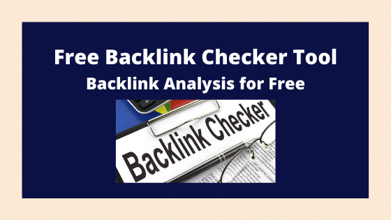 free tools to Check Backlinks of website