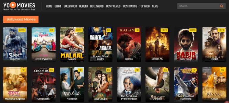 YoMovies Bollywood Movies Online