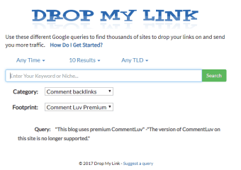 Drop My Link Search