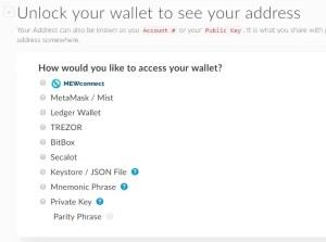 Wallet Unlock key