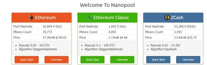 Nano Pool Ethereum Mining