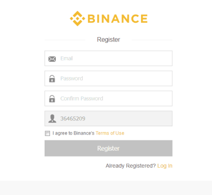 Binance Sign Up
