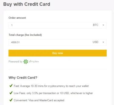 Buy Crypto on Binanace using Credit Card