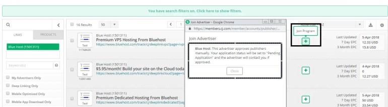 UPLOADING 1 / 1 – Bluehost Affiliate Program Join.PNG ATTACHMENT DETAILS Bluehost Affiliate Program Join