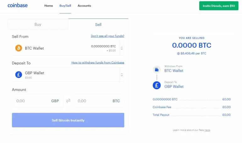 CoinBse Bitcoin to USD Convert