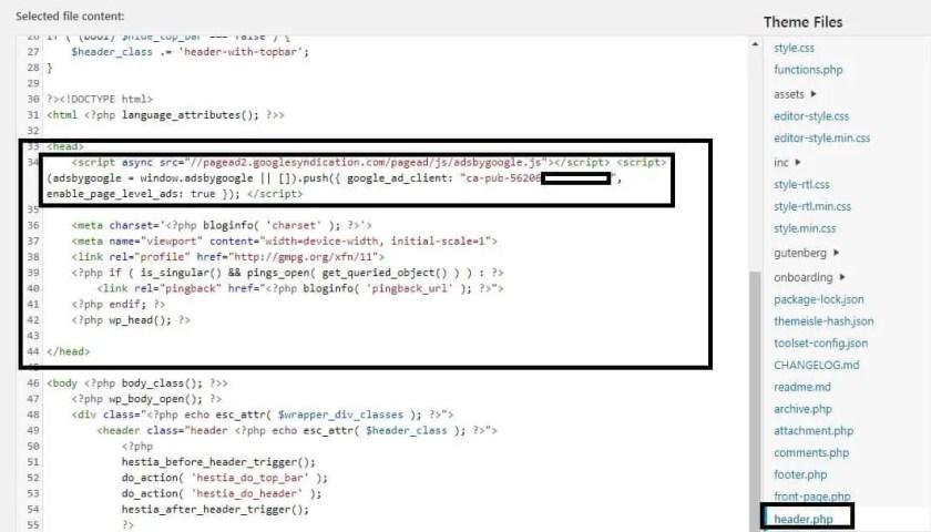 Auto Adsense Code Add in WordPress