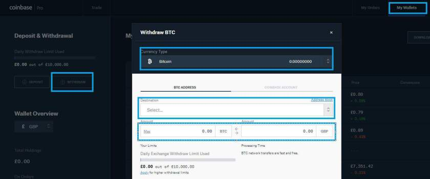 Bitcoin Withdrwal from GDEX
