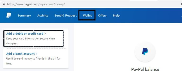 Credit Debit Card PayPal