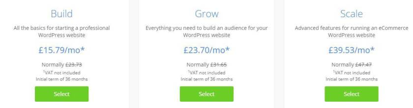 Managed WordPress hosting from WordPress