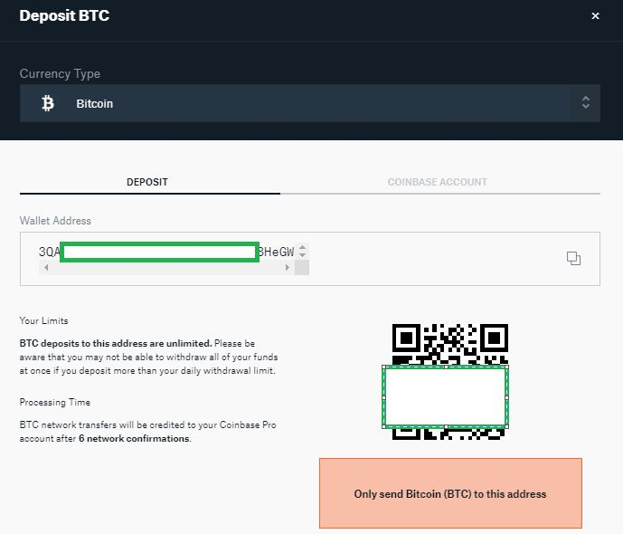 GDEX Bitcoin Deposit Address