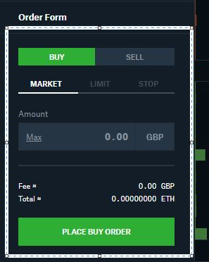 How to place market order with GDEX