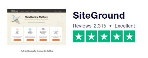 TrustPilot SiteGround Rating