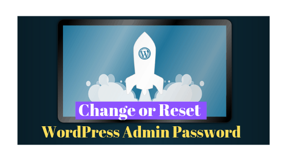 How to change wordpress Password