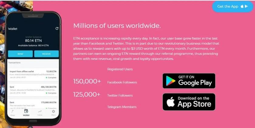 Electroneum mobile app