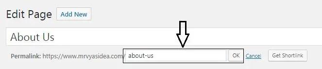 Change slug of the wordpress pages