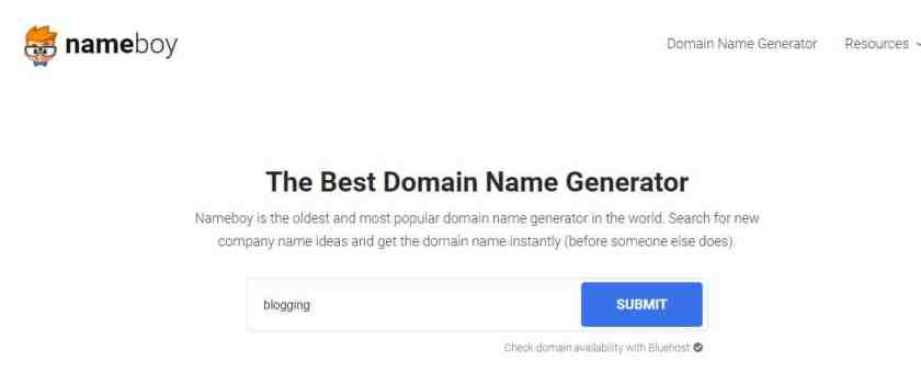 Name Boy Blog name generator