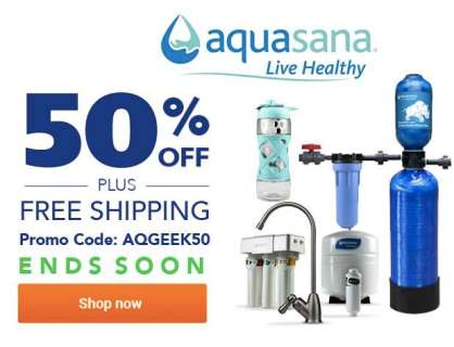 Aquasana Offer FREE Shipping Side