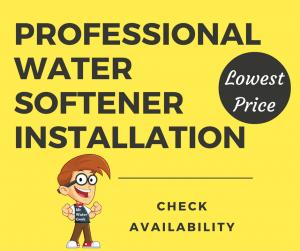 Professional water softener installation