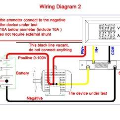 Digital Voltmeter Wiring Diagram Hr Worksheet Middle School Voltmetro E Amperometro Digitale Lcd Rosso Dc 0-100v 0-50a Con Shunt