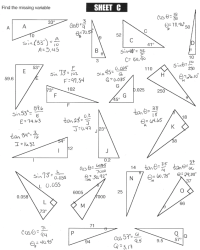 Printable Worksheets  Right Triangle Trig Worksheets ...