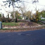 Hurricane Sandy aftermath along Palm Street, Westwood, NJ (11/5/2012).