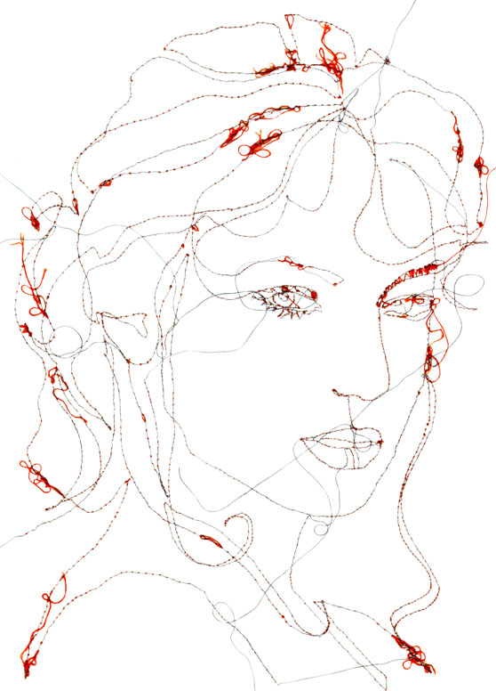 Marloes Duyker - Face - Machine Embroidery