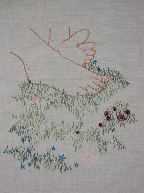 Meagan Ileana Embroidery - Grass Between My Toes