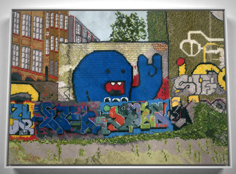 The Cutting (& Stitching) Edge – Five Graffiti Embroideries